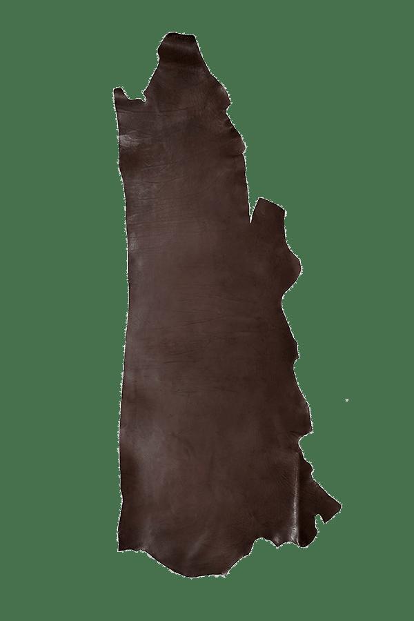 Drum Dyed Back Havana Leather Hide