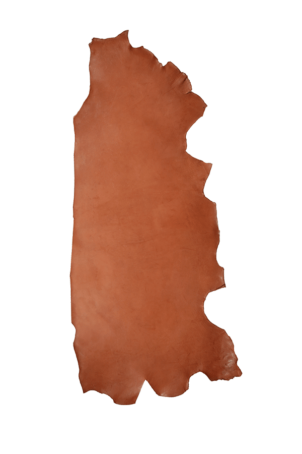 Drum Dyed Back Mahogany Leather Hide