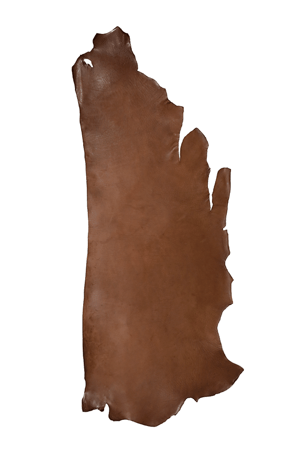 Drum Dyed Back Walnut Leather Hide